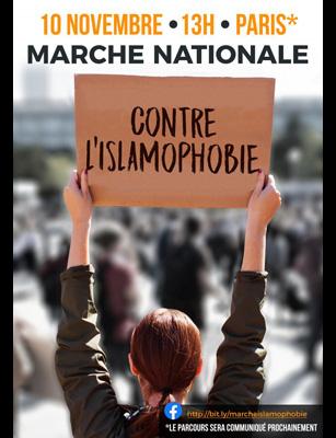 Photo of Marche du 10 novembre à Paris: nous dirons STOP à l'islamophobie !